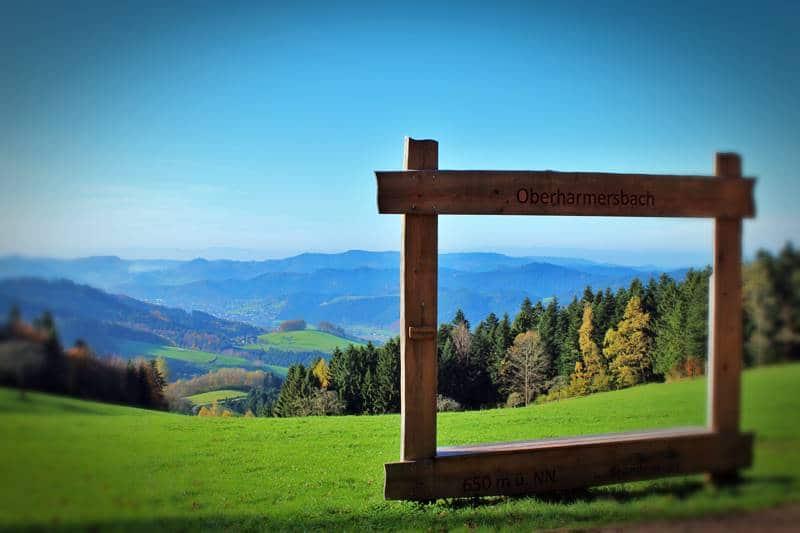 Panorahmen in Oberharmersbach